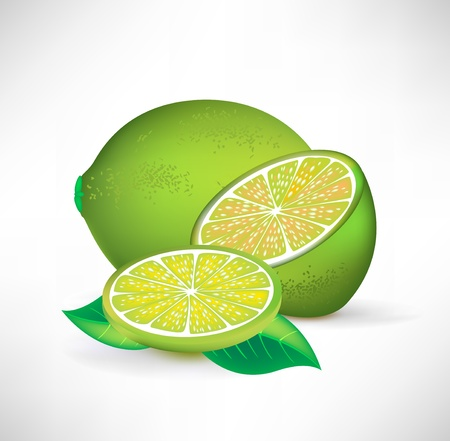fruited: lime whole half and slice