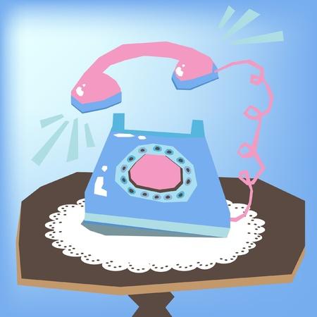 vintage telephone: phone ringing