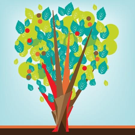 albero stilizzato: decorative albero stilizzato