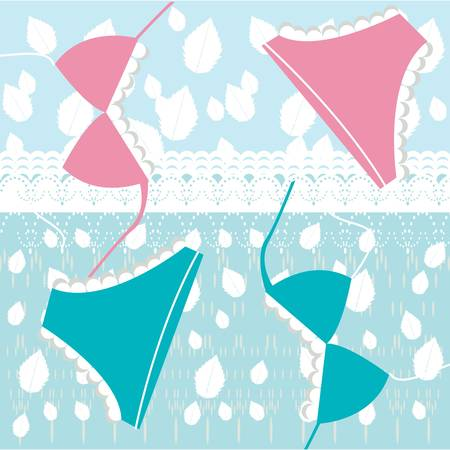 lingerie and lace pattern Vector