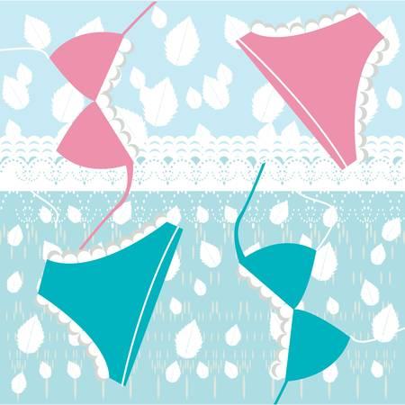 seduction: lingerie and lace pattern Illustration