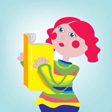 cheeks: little girl holding book