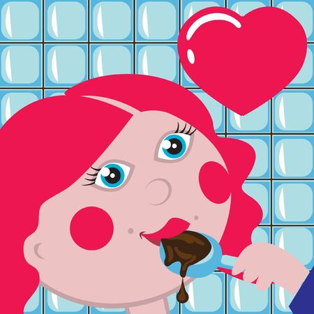 crave: girl eating chocolate with spoon