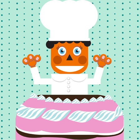 crave: chef with cake