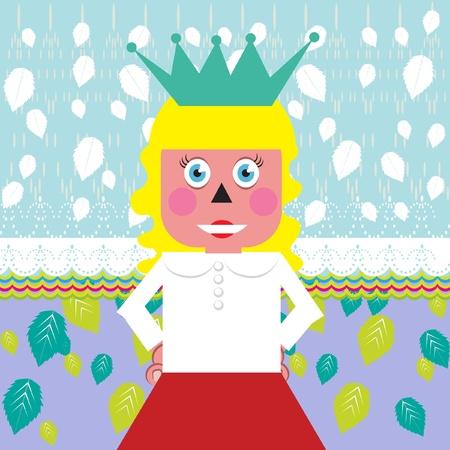 jardin de infantes: niña rubia como una princesa
