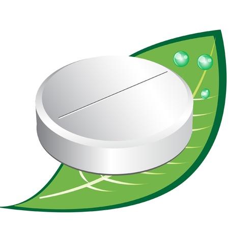 ronde witte pil met verlof