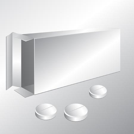 pack of pharmaceutical pills Vector