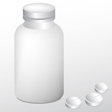 sickness: bottle white container of pharmaceutical pills