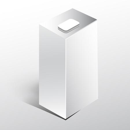 시뮬레이션: 음료에 대 한 빈 흰색 종이 용기 일러스트