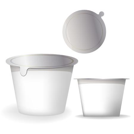 yaourts: contenant de yogourt Illustration