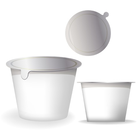 plastic container: yogurt container