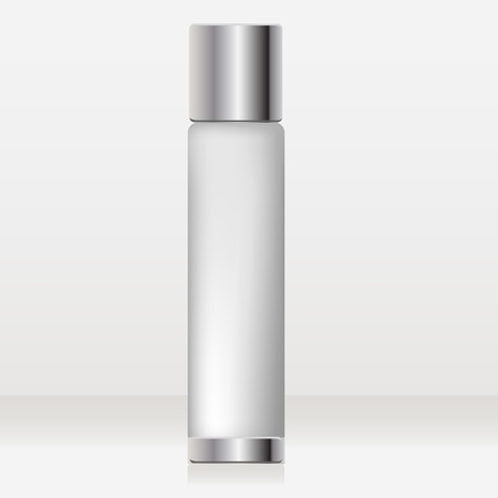 lotion bottle: tubular glossy cosmetic container