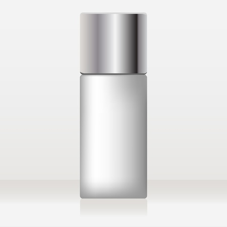 lotion: glossy cosmetic container Illustration