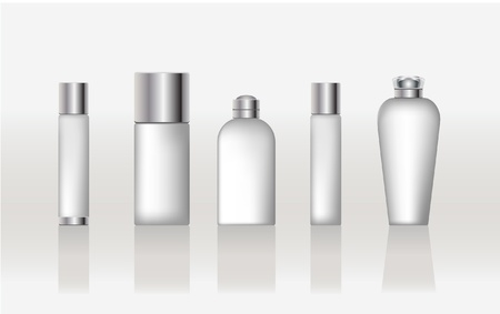 cosmetic cream: set of cosmetic packaging