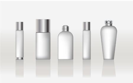 Un conjunto de envases de cosméticos Foto de archivo - 10838187