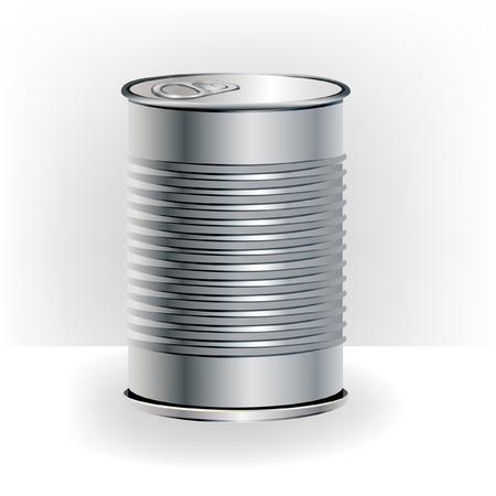 lata de aluminio aislado para su presentación Ilustración de vector