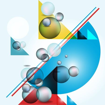 surrealistic: colorful geometric abstract art background