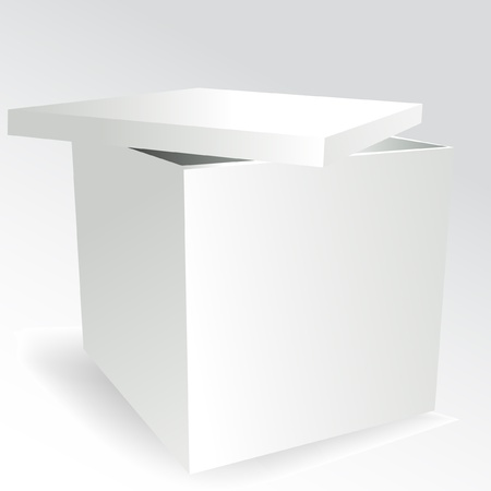 packer: empty white cube box