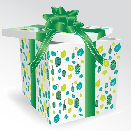 green gift box Vector