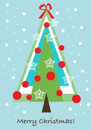 christmas tree card Stock Vector - 10838181