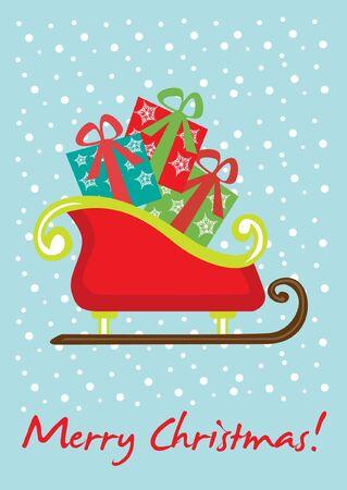 sledge: Trineo de Navidad tarjetas