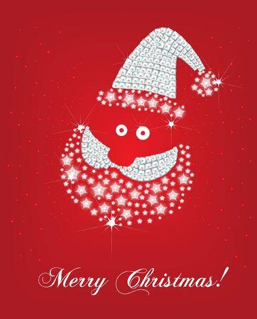 santa face christmas card Stock Vector - 10838564