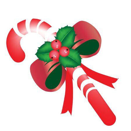 muerdago: caramelo de la Navidad con el muérdago