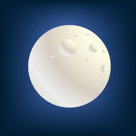 full moon and sky Stock Vector - 10838556