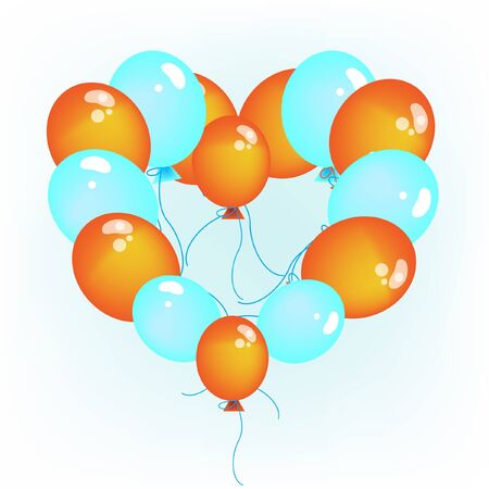 baloons heart shaped Vector