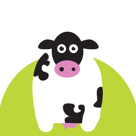 veal: cow on grass