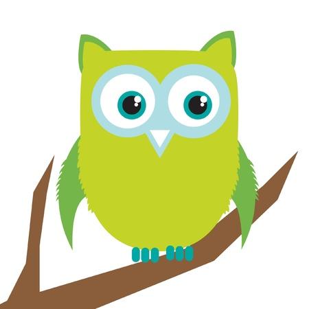 owl in branch Stock Vector - 10838097