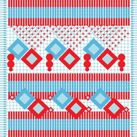 ethnic textile background Vector