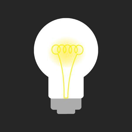 bombillo ahorrador: bombilla de luz sobre negro Vectores