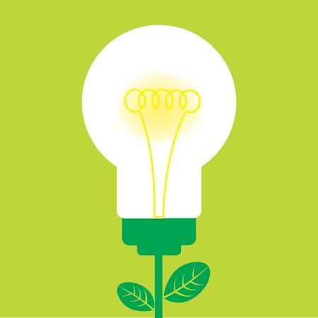 filament: green light bulb Illustration