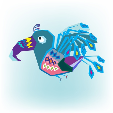 ethnics: bird flying Illustration