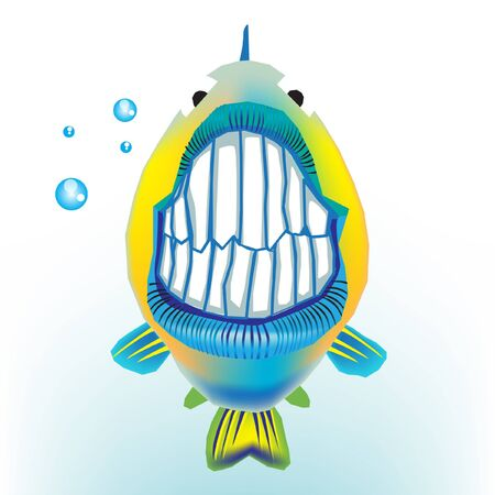 fish with funny grin Vector