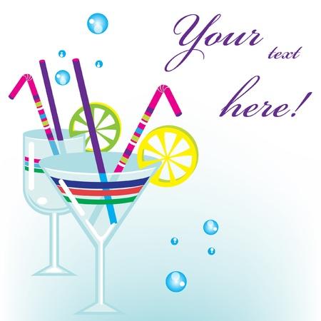 fashion bril: cocktaildranken achtergrond