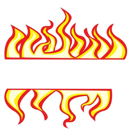 flames borders Stock Vector - 10851381