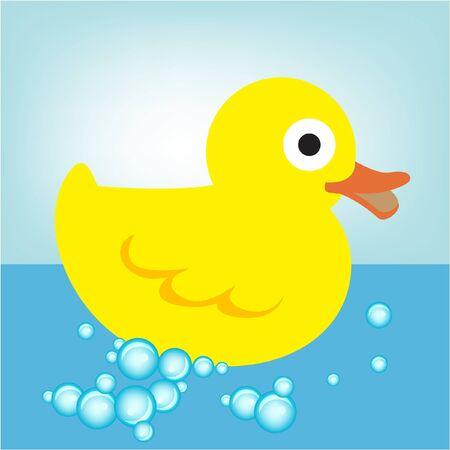 pato de goma en el agua