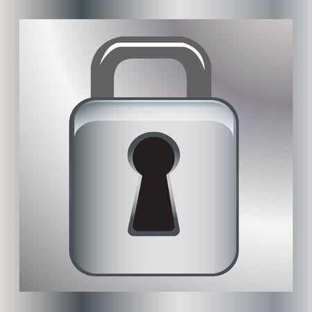 lock icon Stock Vector - 10851560