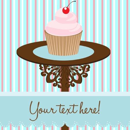 tarjeta de fondo Cupcake