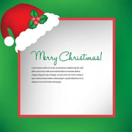 christmas card with santa hat Stock Vector - 10852054