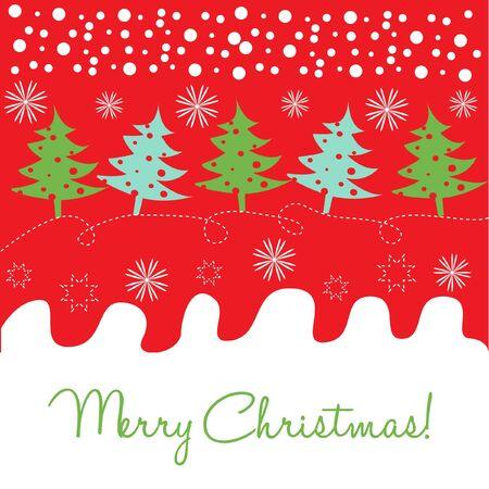 christmas tree decoration card Stock Vector - 10851483