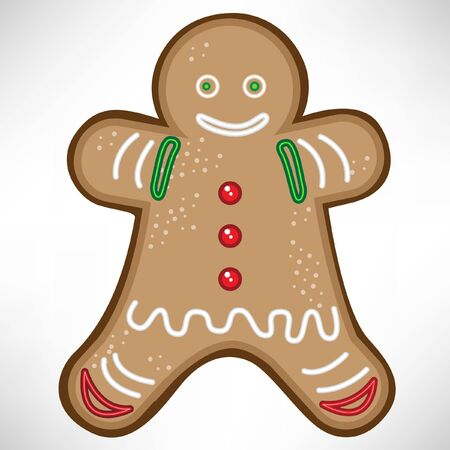 gingerbread cake: christmas cookie Illustration