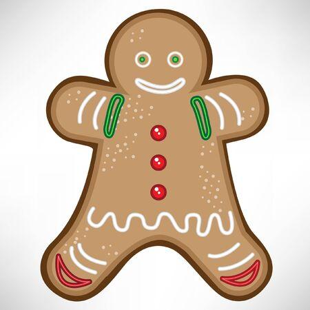 galletas de jengibre: galleta de Navidad Vectores
