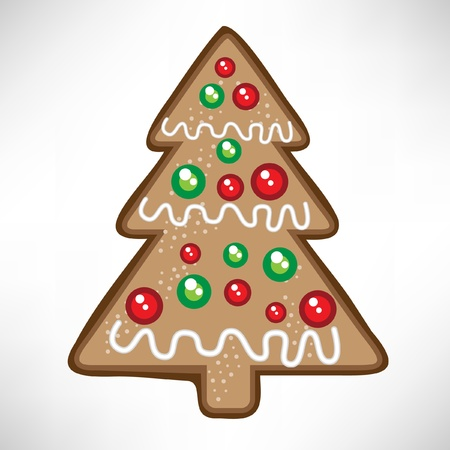 christmas tree cookie Stock Vector - 10851661