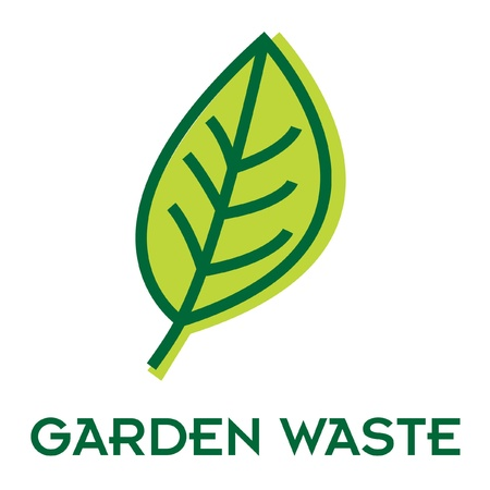 reprocess: garden waste recycle sign Illustration