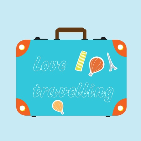 travel suitcase  Illustration