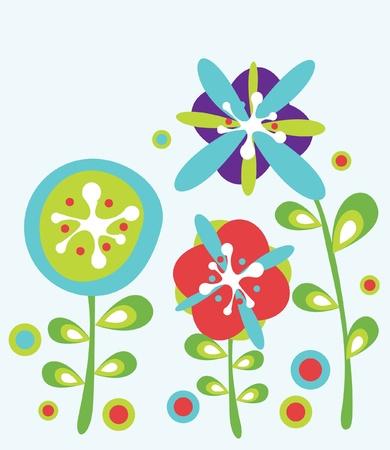 decorative flowers background Stock Vector - 10851394