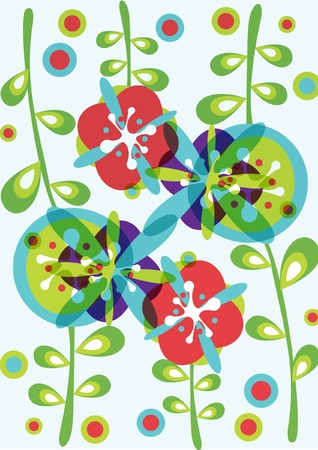 decorative flowers background pattern Stock Vector - 10851428